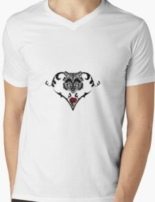 Wolf Design Mens V-Neck T-Shirt