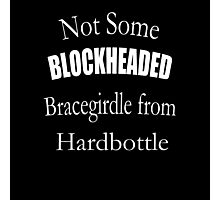 Not Some Blockheaded Bracegirdle Photographic Print