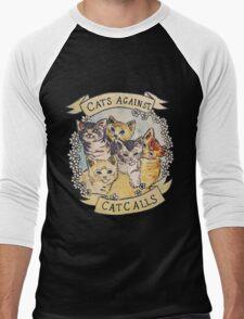 Cats Against Cat Calls Men's Baseball ¾ T-Shirt