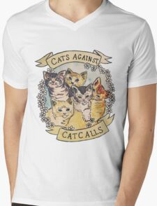 Cats Against Cat Calls Mens V-Neck T-Shirt