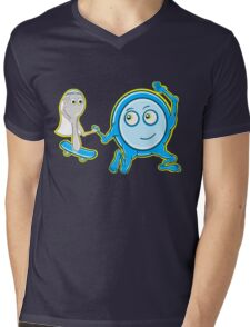 The Dish Ran Away With The Spoon Mens V-Neck T-Shirt