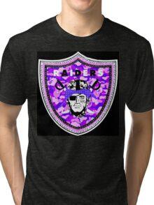 Raiders Black Tri-blend T-Shirt