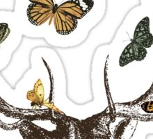 The Stag & Butterflies Sticker