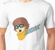 Velma Dinkley - Jinkes! [Blue Text] Unisex T-Shirt