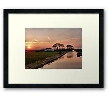 Sunset on the Lancaster Canal Framed Print