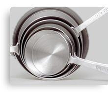 Kitchen Sculpture: Measuring Cups Canvas Print