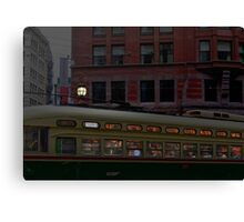 San Francisco rush hour Market Street Muni Canvas Print