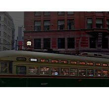 San Francisco rush hour Market Street Muni Photographic Print
