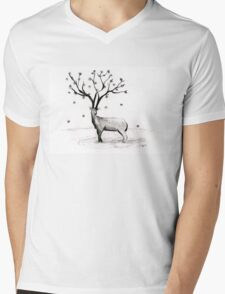 Blooming Mens V-Neck T-Shirt