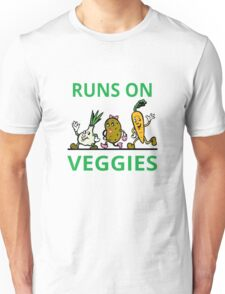 Runs On Veggies Unisex T-Shirt