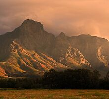 Hottentot Holland mountains by Dan MacKenzie