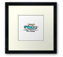 1955 Chevy Hardtop Coupe Gone Surfing Framed Print