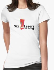 Six Lasers Over Cybertron Womens Fitted T-Shirt