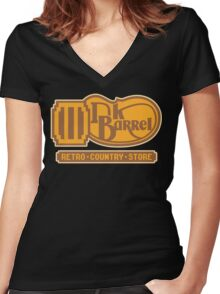 DK BARREL Women's Fitted V-Neck T-Shirt