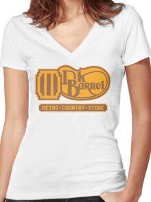 DK BARREL Women's Fitted V-Neck T-Shirt