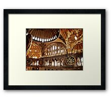 Hagia Sophia Gallery and Dome Framed Print