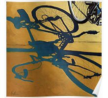 Market Day - bicycle art transportation oil painting Poster