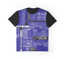 #ihartportadelaide - Blue Print Graphic T-Shirt
