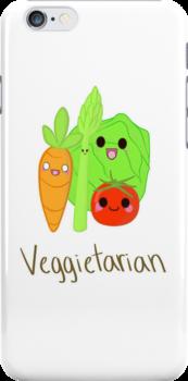 Veggietarian, Apple case by Shep610