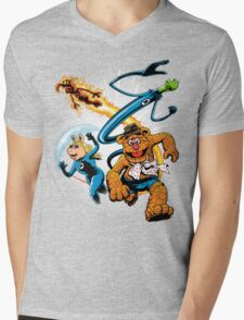 The Muptastic Four Mens V-Neck T-Shirt