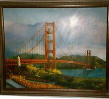 San Francisco Bay Bridge by geri jones