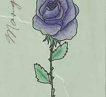 Purple Rose by Wiemaynia