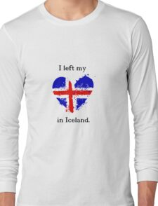 I left my heart in Iceland, Tshirt Long Sleeve T-Shirt