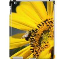 Yellow Sunflower and Bee iPad Case/Skin