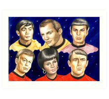 To boldly go......Star Trek.....the originals Art Print