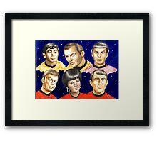 To boldly go......Star Trek.....the originals Framed Print