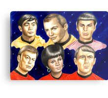 To boldly go......Star Trek.....the originals Metal Print