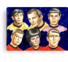 To boldly go......Star Trek.....the originals Canvas Print
