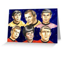 To boldly go......Star Trek.....the originals Greeting Card