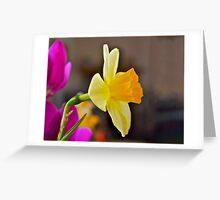 Daffodil Paintography Greeting Card