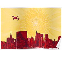 Sunset and the City (New York) Poster
