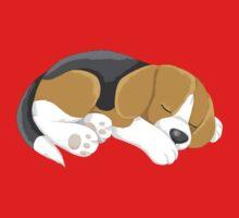 Sleeping Puppy One Piece - Short Sleeve