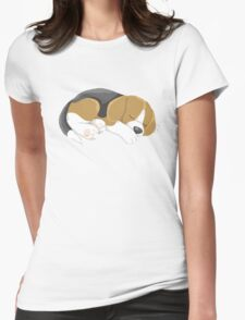 Sleeping Puppy Womens Fitted T-Shirt