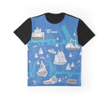 #ihartPortAdelaide - The River's Boats Graphic T-Shirt
