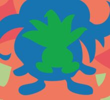 PKMN Silhouette - Oddish Family Sticker