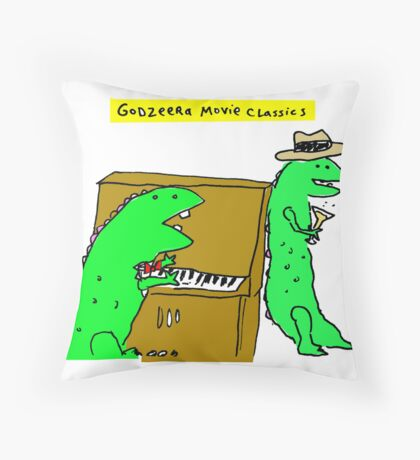 Movie Classics of Large Lizard  Throw Pillow