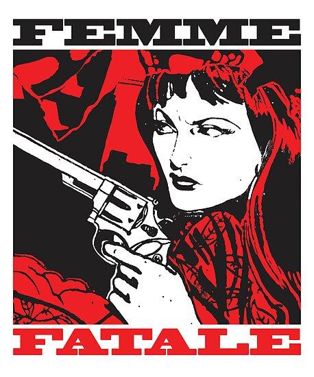 Femme Fatale (Girl with a Gun) by brooklynprints