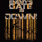 """The Enemy's Gate Is Down"" Poster:Black by Malc Foy"