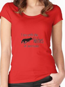Running with the Wolves Women's Fitted Scoop T-Shirt
