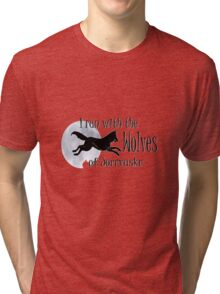 Running with the Wolves (with moon) Tri-blend T-Shirt