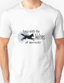 Running with the Wolves (with moon) Unisex T-Shirt