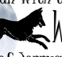 Running with the Wolves (with moon) Sticker