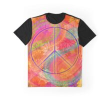 Hippie Chic Flowers Peace Graphic T-Shirt