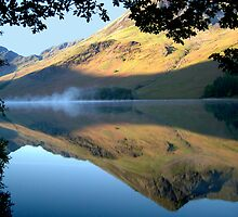 Mist On Buttermere, Buttermere,Lake District by Jim Round
