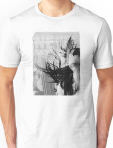 New York city scape and woman model Unisex T-Shirt
