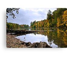 Peaceful Autumn Lake Landscape Canvas Print